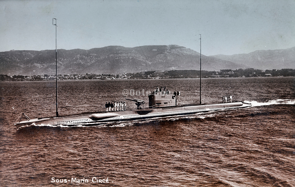 French 600 series class Circé submarine 1920s
