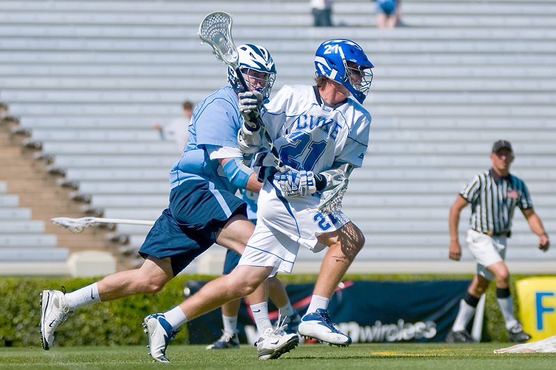 26 April 2009:.26 April 2009:Duke sophomore attack #21 Zach Howell