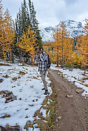 Ankit Pal at Larch Valley., Alberta, Canada, Isobel Springett