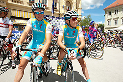 Slovenian cyclists of team Astana during 1st Stage (164 km) at 19th Tour de Slovenie 2012, on June 14, 2012, in Celje, Slovenia. (Photo by Urban Urbanc / Sportida)