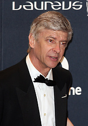 ARSENE WENGERarrives at the Laureus Sport Awards held at the Queen Elizabeth II Centre, London, Monday February 6, 2012. Photo By i-Images