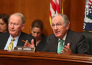 Senator Tom Harkin (D-IA) talks during a Health, Education, Labor, And Pensions Committee hearing in the Dirksen Senate Office Building in Washington, DC on Thursday, April 11, 2013. Sen. Harkin is the chairman of the HELP Committee.