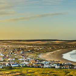 Cabo Polonio, the small coastal village of 100 inhabitants, at sunset, Cabo Polonio, Uruguay.