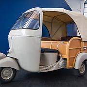 Ape three wheeled transporter, Piaggio Museum, Pontedera, Tuscany, Italy
