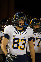 Nov 19, 2011; Stanford CA, USA;  California Golden Bears tight end Anthony Ferrario (83) enters the field before the game against the Stanford Cardinal at Stanford Stadium.  Stanford defeated California 31-28. Mandatory Credit: Jason O. Watson-US PRESSWIRE