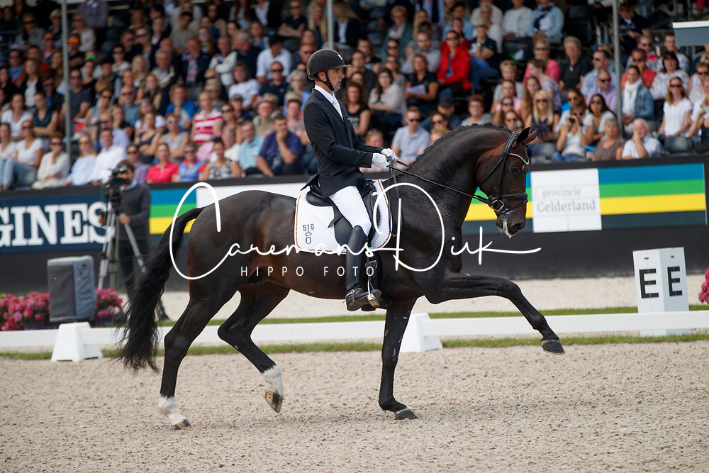 Helgstrand Andreas, DEN, Ferrari Old<br /> Longines FEI/WBFSH World Breeding Dressage Championships for Young Horses - Ermelo 2017<br /> &copy; Hippo Foto - Dirk Caremans<br /> 06/08/2017