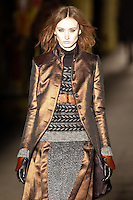 Alex Yuryeva walks down runway for F2012 Rag & Bone collection in Mercedes Benz fashion week in New York on Feb 10, 2012 NYC