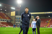 Ben Davies (6) of Preston North End FC arriving at Oakwell Stadium before the EFL Sky Bet Championship match between Barnsley and Preston North End at Oakwell, Barnsley, England on 21 January 2020.