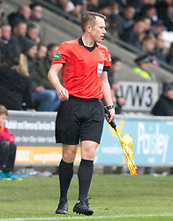 Assistant referee Graeme Stewart during the Ladbrokes Scottish Premier League match at St Mirren Park, St Mirren.