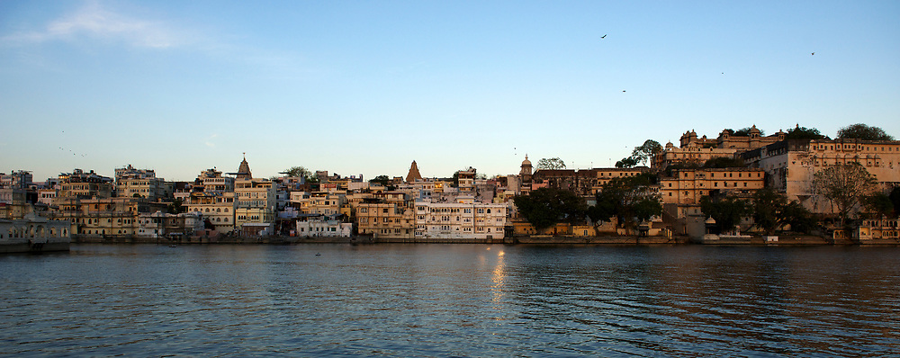Udaipur's city centre,  overlooking Lake Pichola.