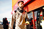 George Francomb arrives before the EFL Sky Bet League 2 match between Walsall and Crawley Town at the Banks's Stadium, Walsall, England on 18 January 2020.