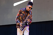 Masego performs during Summer Spirit Festival 2018 at Merriweather Post Pavilion in Columbia, MD on Sunday, August 5, 2018.