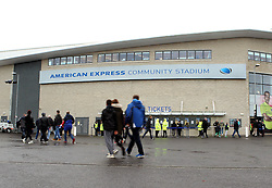 Fans arrive at The American Express Community Stadium (Falmer Stadium), home of Brighton & Hove Albion - Mandatory byline: Robbie Stephenson/JMP - 07966 386802 - 07/11/2015 - FOOTBALL - Falmer Stadium - Brighton, England - Brighton v MK Dons - Sky Bet Championship