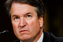 September 27, 2018 - Washington, District of Columbia, U.S. - Judge BRETT M. KAVANAUGH testified in front of the Senate Judiciary committee regarding sexual assault allegations at the Dirksen Senate Office Building on Capitol Hill. (Credit Image: © Melina Mara/Pool via ZUMA Wire)