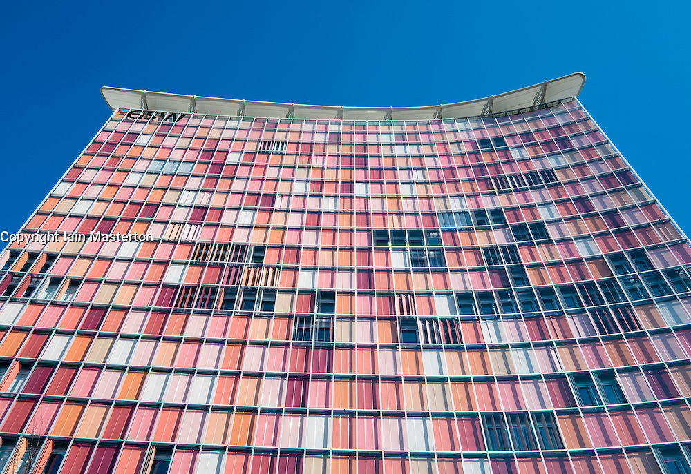 Modern Architecture Berlin colourful modern architecture of gsw office tower in berlin