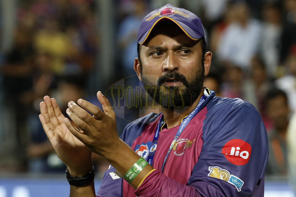 Raghu Iyer CEO of Rising Pune Supergient during match 39 of the Vivo 2017 Indian Premier League between the Rising Pune Supergiants and the Gujarat Lions held at the MCA Pune International Cricket Stadium in Pune, India on the 1st May 2017<br /> <br /> Photo by Arjun Singh - Sportzpics - IPL