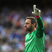 Goalkeeper Richard Wright, Manchester City, during the Manchester City V Chelsea friendly exhibition match at Yankee Stadium, The Bronx, New York. Manchester City won the match 5-3. New York. USA. 25th May 2012. Photo Tim Clayton