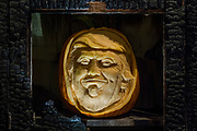 Terrifying Trumpkin: instantly recognisable for his sweeping hairline and smug sitting face, Donald Trump is currently making headlines for all the wrong reasons. In celebration of National Pumpkin Day on Wednesday 26thOctober 2016, Sainsbury's commissioned the unbelievably  realistic Trumpkin carving by Jamie Jamieson, Sand In Your Eye. This Halloween Sainsbury's will sell enough pumpkins to create a line from Dover to Brussels via the channel tunnel