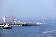 looking out over Tokyo Bay between Yokosuka and Yokohama Japan