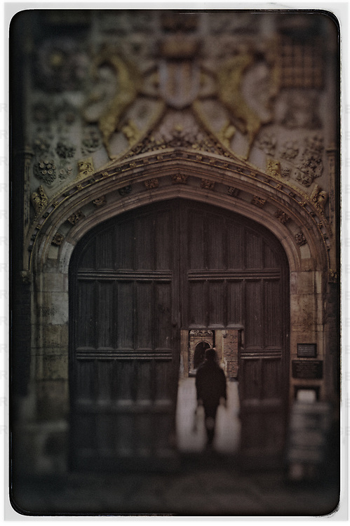 Front Entrance to St. John's College, Cambridge, England