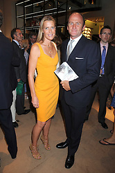 INDIA HICKS and DAVID FLINT WOOD at a party to celebrate the publication of Sashenka by Simon Sebag-Montefiore held at Asprey, Bond Street, London on 1st July 2008.<br /><br />NON EXCLUSIVE - WORLD RIGHTS