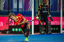 Spain's Bosco Perez Pla. England v Spain - Unibet EuroHockey Championships, Lee Valley Hockey & Tennis Centre, London, UK on 25 August 2015. Photo: Simon Parker