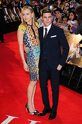 Taylor Schilling and Zac Efron at The Lucky One premiere in  London, 23rd April 2012.  Photo by: Chris Joseph / i-Images