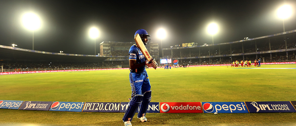 Rajasthan Royals player Sanju Samson warm up before batting during match 22 of the Pepsi IPL 2015 (Indian Premier League) between The Rajasthan Royals and The Royal Challengers Bangalore held at the Sardar Patel Stadium in Ahmedabad , India on the 24th April 2015.<br /> <br /> Photo by:  Sandeep Shetty / SPORTZPICS / IPL