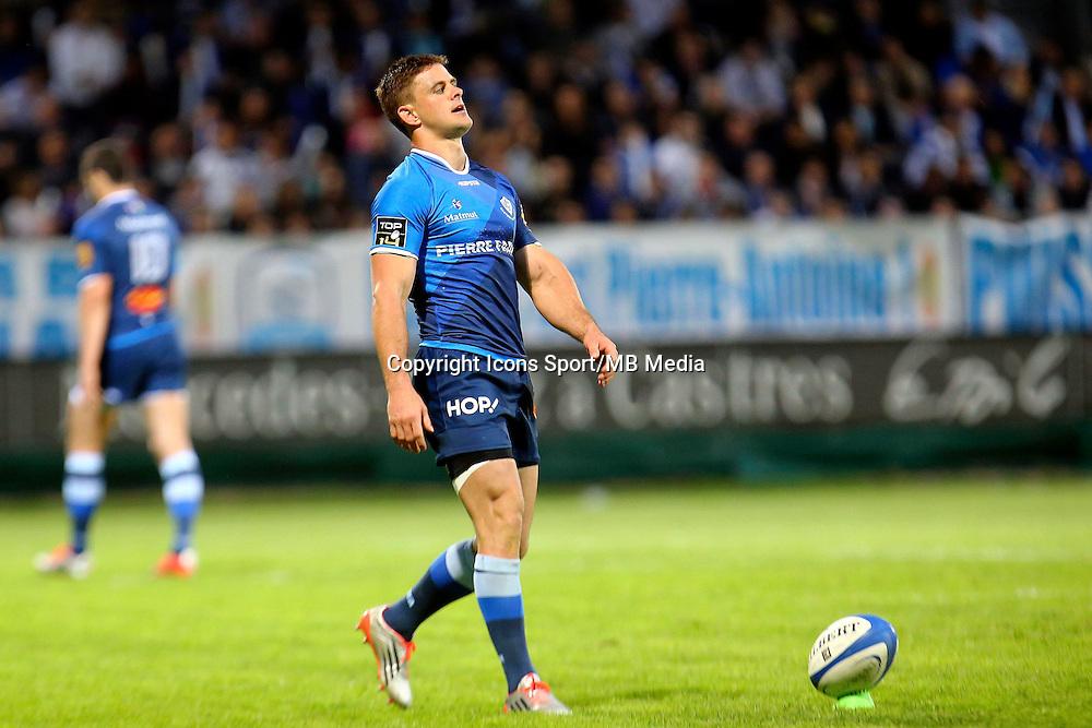 Rory Kockott - 25.04.2015 - Castres / Clermont - 23eme journee de Top 14<br />Photo : Laurent Frezouls / Icon Sport