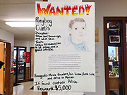 Ponyboy Curtis Wanted poster in the hallway outside the English classroom