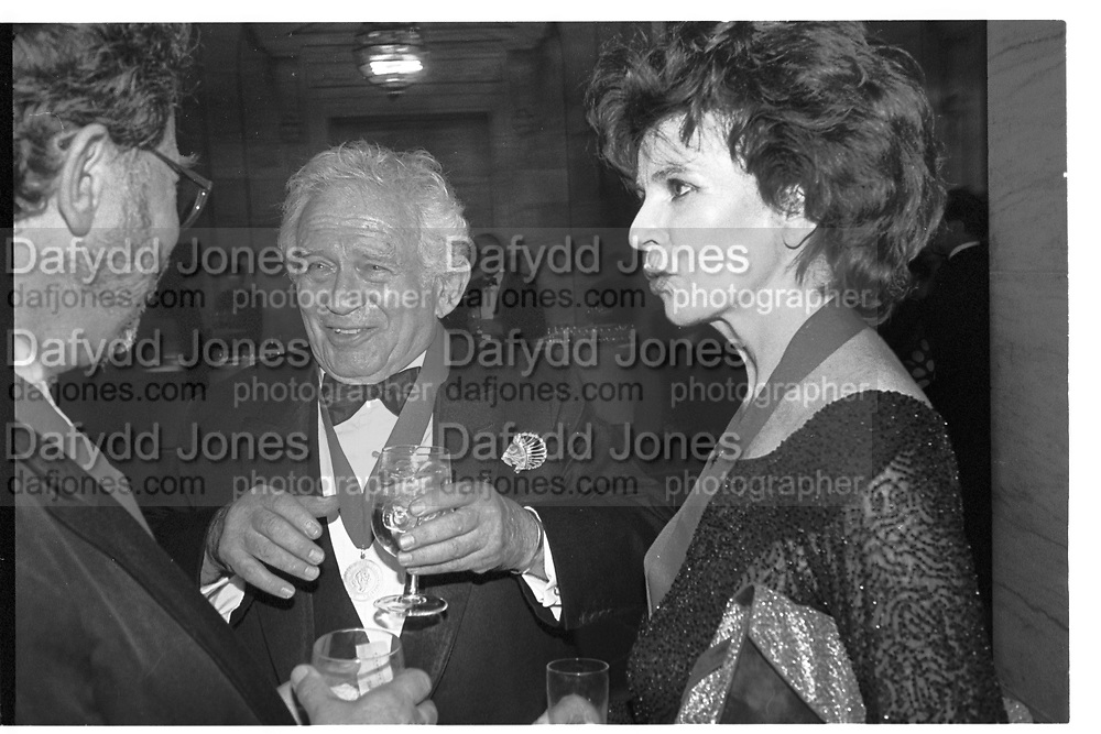 NORMAN MAILER; EDNA O'BRIEN,  Literary party at the NY public library. New York. 1996.<br /> <br /> SUPPLIED FOR ONE-TIME USE ONLY> DO NOT ARCHIVE. © Copyright Photograph by Dafydd Jones 248 Clapham Rd.  London SW90PZ Tel 020 7820 0771 www.dafjones.com