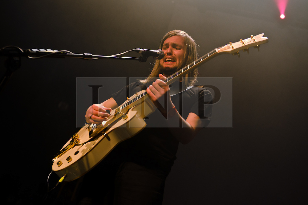 © Licensed to London News Pictures. 06/03/2012. London, UK. Band of Skulls headline a sell-out live show at The Roundhouse, Camden.  Russell Marsden on guitar and vocals.  Photo credit : Richard Isaac/LNP