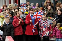 © Licensed to London News Pictures. 22/11/2012. Bristol, UK.  Queen Elizabeth ll and the Duke of Edinburgh visit MShed museum in Bristol dockside.  22 November 2012..Photo credit : Simon Chapman/LNP