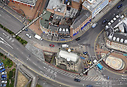 aerial photograph of Leicester Leicestershire  England UK