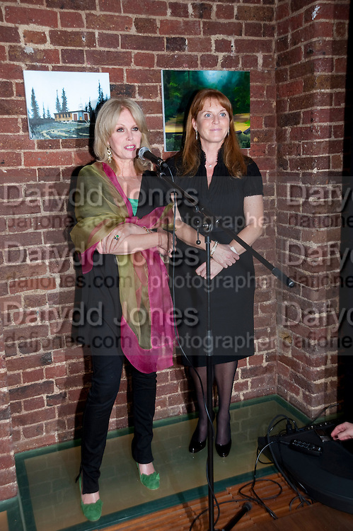 JOANNA LUMLEY; SARAH THE DUCHESS OF YORK, The launch party for Elephant Parade hosted at the house of  Jan Mol. Covent Garden. London. 23 June 2009.