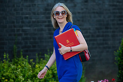 © Licensed to London News Pictures. 17/07/2018. London, UK. Chief Secretary to the Treasury Elizabeth Truss arrives on Downing Street for the Cabinet meeting. Photo credit: Rob Pinney/LNP