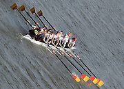 Chiswick. GREAT BRITAIN, Tideway Scullers School 'A' approaching the start, from, Chiswick Bridge, during the 2007 Women's Head of the River Race,  raced over the Championship Course, [reverse] on the River Thames, London, on SAT 17.03.2007,  [Photo Peter Spurrier/Intersport Images]  [Mandatory Credit, Peter Spurier/ Intersport Images]. , Rowing Course: River Thames, Championship course, Putney to Mortlake 4.25 Miles,