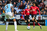 Manchester United midfielder Tahith Chong (44) in action  during the Premier League match between Huddersfield Town and Manchester United at the John Smiths Stadium, Huddersfield, England on 5 May 2019.