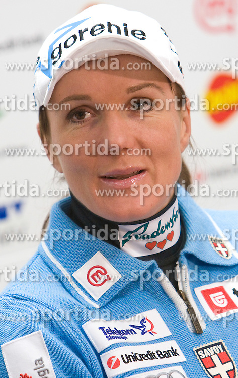 Slovenian skier Petra Majdic at press conference of Slovenian Ski Federation after she placed second at cross-country Tour de Ski Tournee, on January 11, 2010 in SZS, Ljubljana, Slovenia.  (Photo by Vid Ponikvar / Sportida)