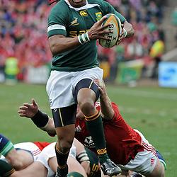Odwa Ndungane of South Africa during the British and Irish Lions tour 2009