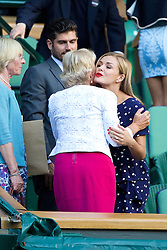LONDON, ENGLAND - Tuesday, July 1, 2014: Katherine Jenkins during the Ladies' Singles Quarter-Final match on day eight of the Wimbledon Lawn Tennis Championships at the All England Lawn Tennis and Croquet Club. (Pic by David Rawcliffe/Propaganda)