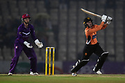 Fi Morris of Southern Vipers batting during the Women's Cricket Super League match between Southern Vipers and Loughborough Lightning at the Ageas Bowl, Southampton, United Kingdom on 28 August 2019.