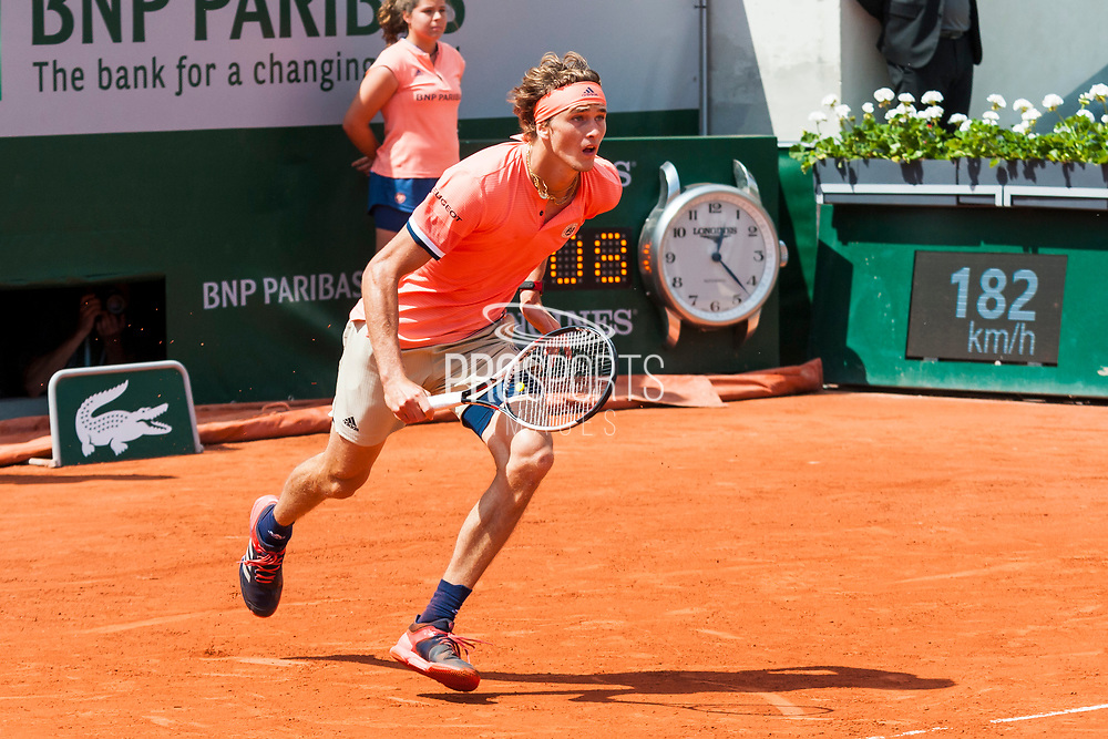 Alexander Szerev (ger) during the Roland Garros French Tennis Open 2018, day 8, on June 3, 2018, at the Roland Garros Stadium in Paris, France - Photo Pierre Charlier / ProSportsImages / DPPI