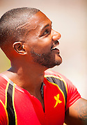 JUSTIN GATLIN (USA) after winning the Mens 100m competition with a time of 9:88 during the second day of the Diamond League event Prefontaine Classic held at the University of Oregons Hayward Field.The Prefontaine Classic is named for University of Oregon track legend Steve Prefontaine. Kynard finished second in the event.