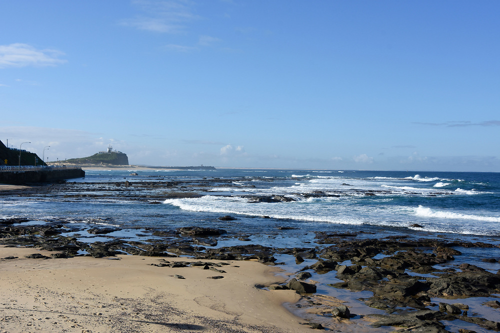Coastline and beach of Newcastle NSW, Australia