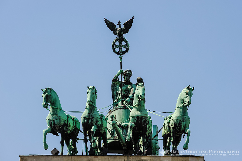 Berlin, Germany. Brandenburger Tor is the monumental gate to Unter den Linden, and a symbol of the cold war.
