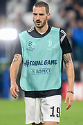 Juventus Defender Leonardo Bonucci warm up during the Champions League Group H match between Juventus FC and Manchester United at the Allianz Stadium, Turin, Italy on 7 November 2018.