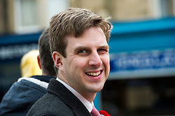 Pictured: Daniel Johnson<br /> <br /> Ian Murray , MP, shadow Scottish Secretary joined Edinburgh South candiate Daniel Johnson on the streets to Edinburgh to celebrate 10 years of free public transport for the over sixties and announce plans to immprove public transport. <br /> <br /> Ger Harley | EEm 1 April 2016