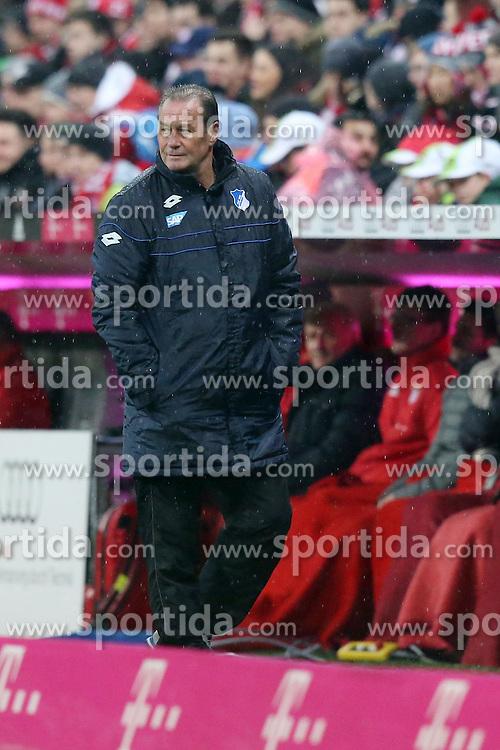 31.01.2016, Allianz Arena, Muenchen, GER, 1. FBL, FC Bayern Muenchen vs TSG 1899 Hoffenheim, 19. Runde, im Bild Trainer Huub Stevens (TSG 1899 Hoffenheim) frustriert // during the German Bundesliga 19th round match between FC Bayern Munich and TSG 1899 Hoffenheim at the Allianz Arena in Muenchen, Germany on 2016/01/31. EXPA Pictures &copy; 2016, PhotoCredit: EXPA/ Eibner-Pressefoto/ Langer<br /> <br /> *****ATTENTION - OUT of GER*****