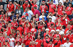 SAINT PETERSBURG, July 3, 2018  Fans of Switzerland are seen after the 2018 FIFA World Cup round of 16 match between Switzerland and Sweden in Saint Petersburg, Russia, July 3, 2018. Sweden won 1-0 and advanced to the quarter-final. (Credit Image: © Cao Can/Xinhua via ZUMA Wire)